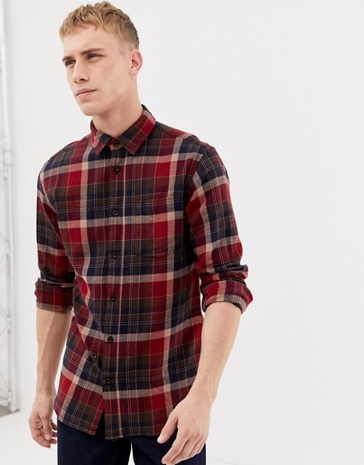 Bild 1 av Selected Homme - rutig flanellskjorta i normal passform
