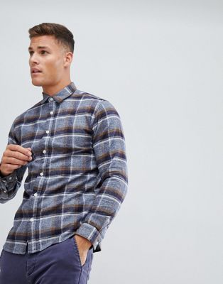 Selected Homme Shirt In Slim Fit Brushed Check