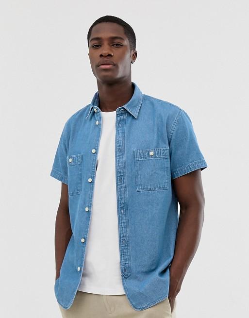 Selected Homme short sleeve denim shirt