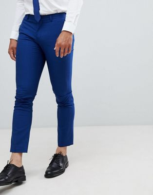 Selected Homme Skinny Suit Pant In Blue With Stretch