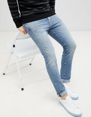 Image 1 of Selected Homme Slim Fit Light Blue Jeans