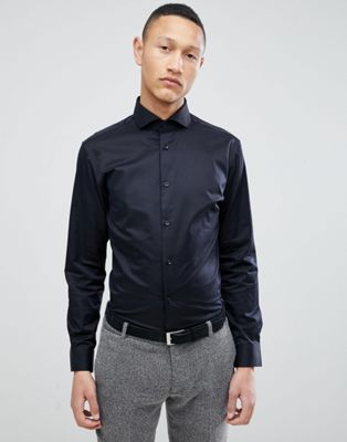 Selected Homme Slim Fit Smart Shirt With Spread Collar