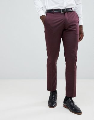 Image 1 of Selected Homme Slim Fit Suit Trouser In Damson