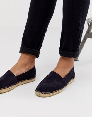 Image 1 of Selected Homme suede spanish espadrilles in navy