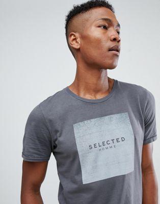Selected Homme - T-shirt à logo