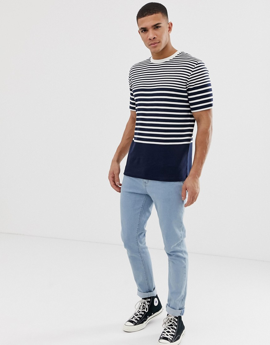 Selected Homme T Shirt With Various Stripes by Selected Homme
