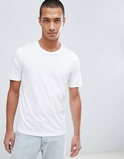 Selected Homme - 'The Perfect Tee' pima - Katoenen T-shirt in wit