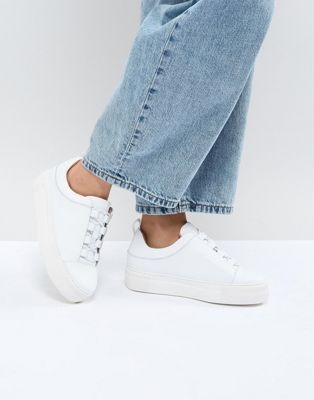 Selected - Sneakers con plateau in pelle