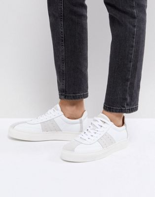 Selected - Sneakers in pelle e pelle scamosciata