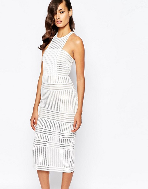 aef3827fa366 Self Portrait Striped Mesh Column Dress | ASOS