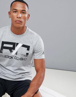 Серая футболка с логотипом Reebok Combat CY9971