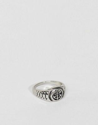 Серебристое кольцо Burton Menswear