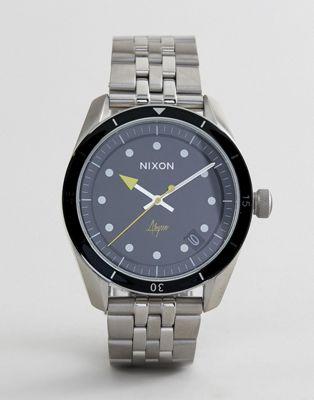 Серебристые часы-браслет Nixon A1237 Bullet 42