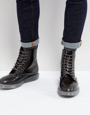 Серые ботинки Dr Martens Whiton Arcadia