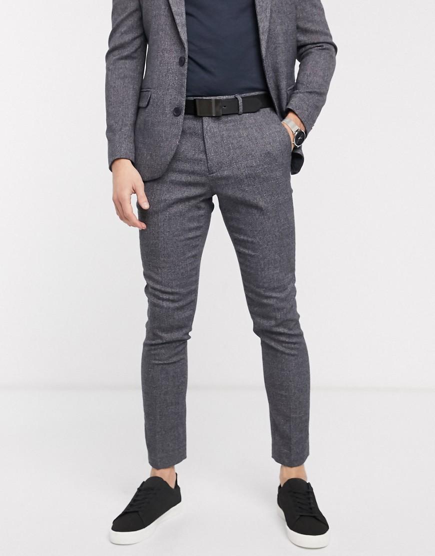 Серые фактурные брюки New Look-Серый