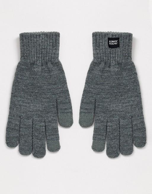 Серые перчатки Jack & Jones