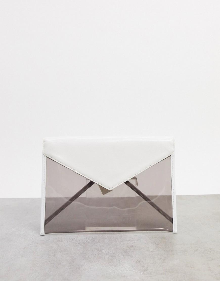 Серый клатч-конвертRebecca Minkoff