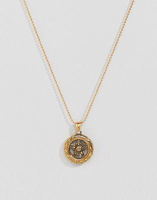Seven London gold pendant necklace