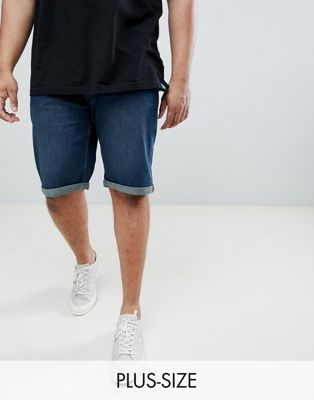 Shorts vaqueros elásticos en azul vintage King Size de Duke