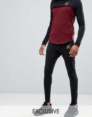SikSilk - Joggingbroek in zwart, exclusief bij ASOS