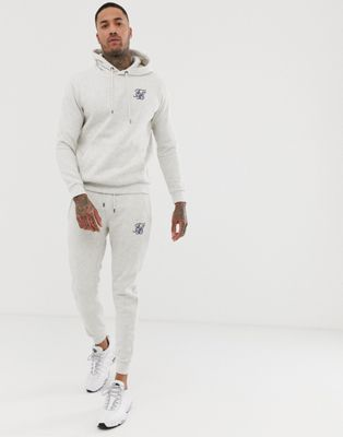 Image 1 of SikSilk sweatpants in white marl