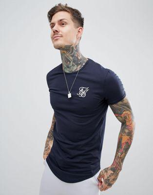 Image 1 sur SikSilk - T-shirt à manches courtes - Bleu marine