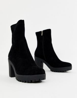 Simmi London black chunky sock boots