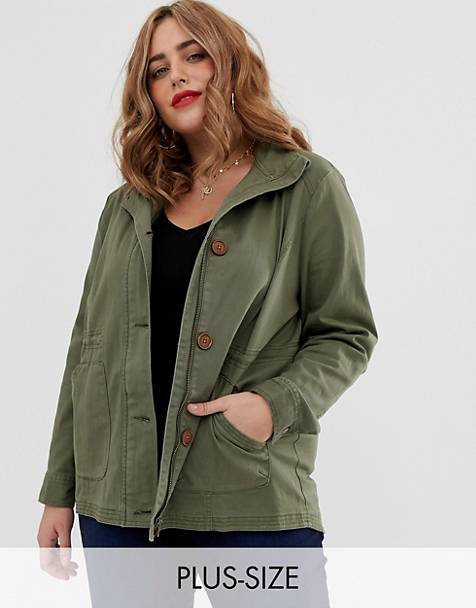 4420d575fb7 Simply Be utility jacket in khaki