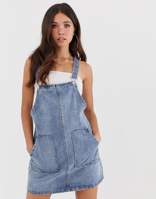 Изображение 1 из Синее джинсовое платье-комбинезон Missguided