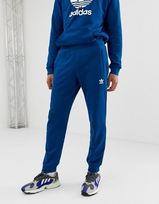 Изображение 1 из Синие джоггеры с логотипом-трилистником adidas Originals