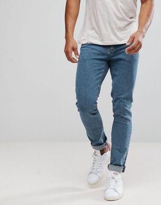 Синие зауженные джинсы ASOS
