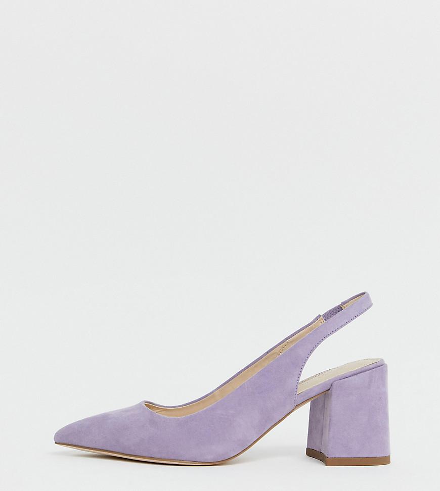 Сиреневые туфли для широкой стопы на среднем каблуке и с ремешком на пятке ASOS DESIGN - Samson-Фиолетовый