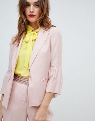Sisley Fluted Sleeve Tailored Jacket