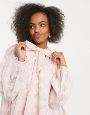 Dream Sister Jane midi smock dress with puff sleeves in floral organza - ASOS Price Checker