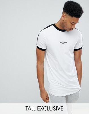 Sixth June Muscle T-Shirt In White exclusive to ASOS