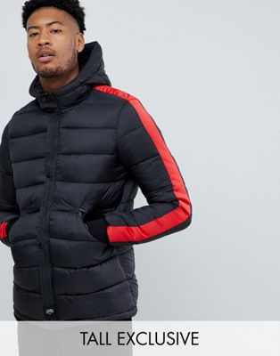 Image 1 of Sixth June puffer jacket with red taping exclusive to ASOS