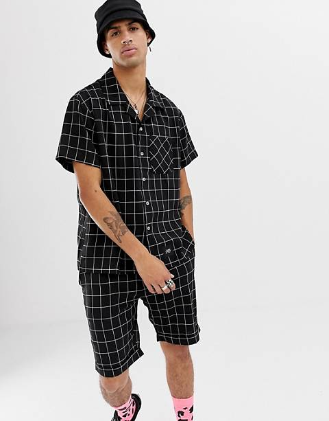 Sixth June shirt in black check