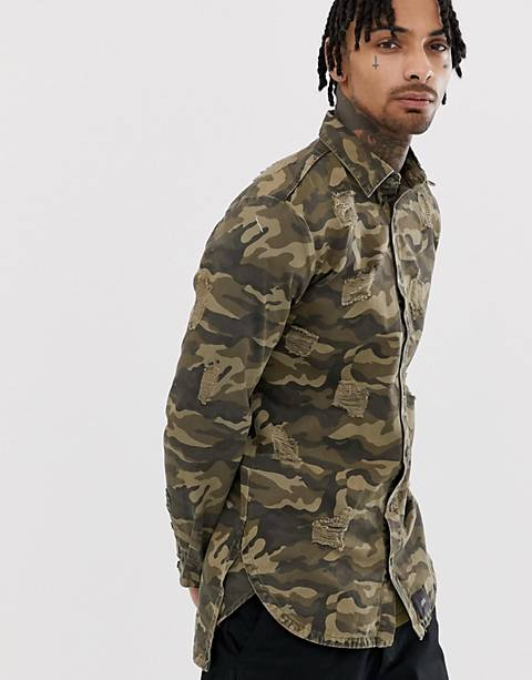 Sixth June shirt in distressed camo