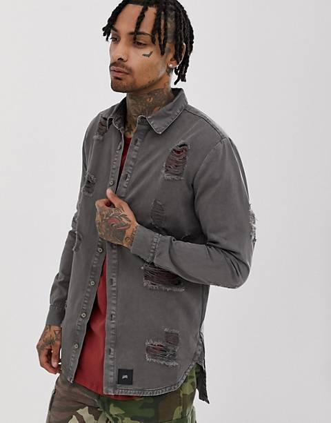 Sixth June shirt in distressed gray