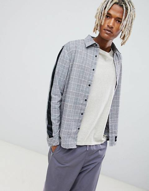 Sixth June shirt with all over check and side stripes