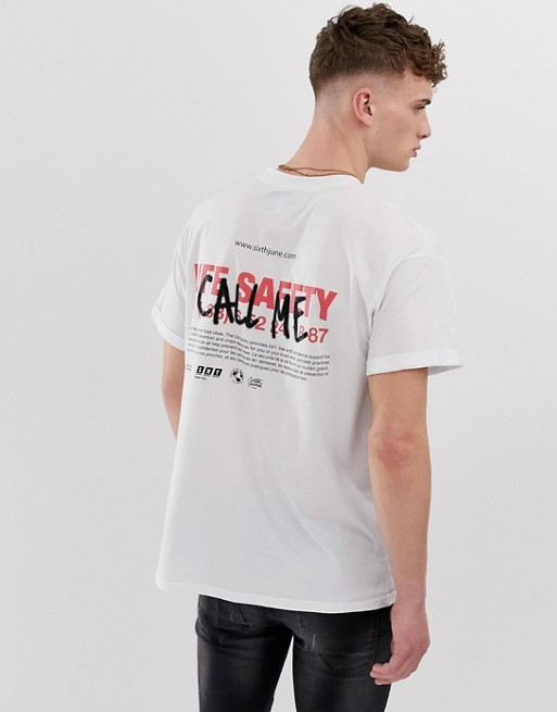 Image 1 of Sixth June t-shirt with call me print
