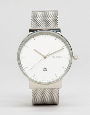 Skagen Ancher Silver Mesh Watch SKW6290