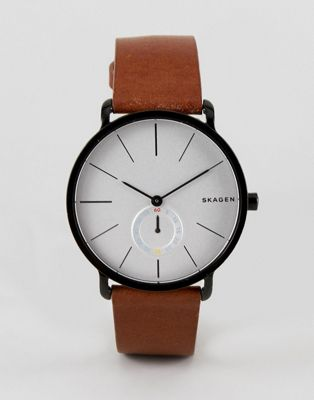 Skagen SKW6216 Hagen Leather Watch In Tan