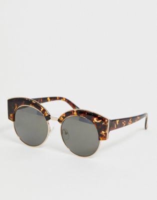 Image 1 of Skinnydip dakota tort round club sunglasses