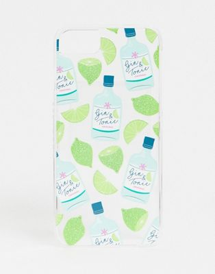 Skinnydip – Gin & Tonic –  Glitzerndes Etui für iPhone6/7/8/s/6 Plus/7 Plus