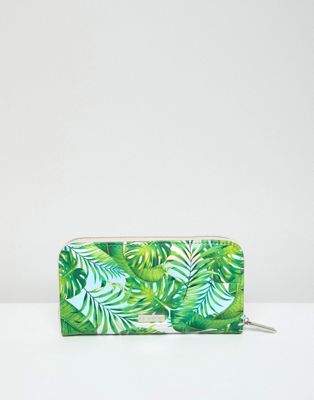 Skinnydip Palm Print Zip Top Purse