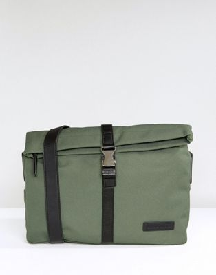 Smith And Canova Nylon And Leather Messenger Bag
