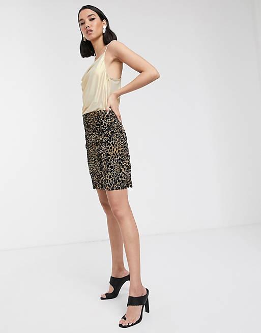 Soaked In Luxury- Mininederdel i leopardprint