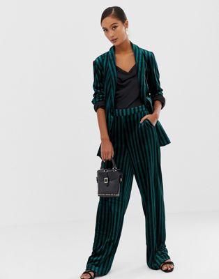 Soaked In Luxury stripe suit pants