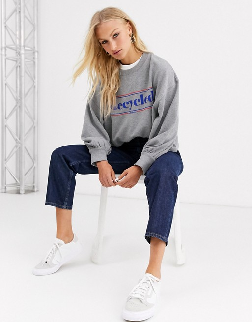 Soaked In Luxury   Sweatshirt Med 'recycled' Logo by Asos